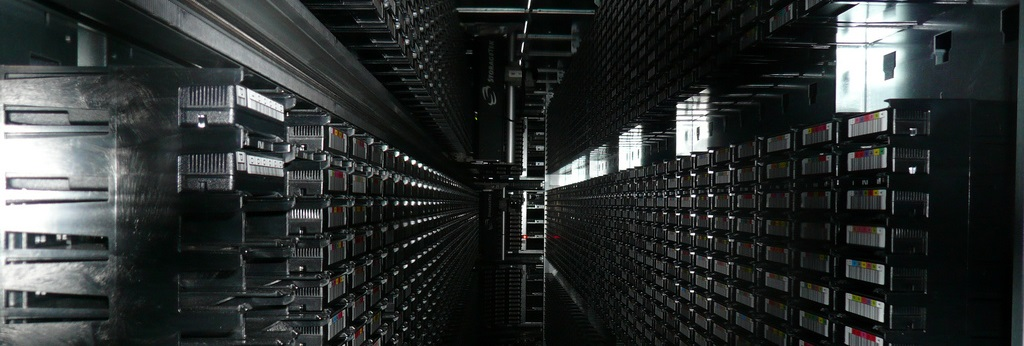 Tape library, CERN, Geneva, Cory Doctorow
