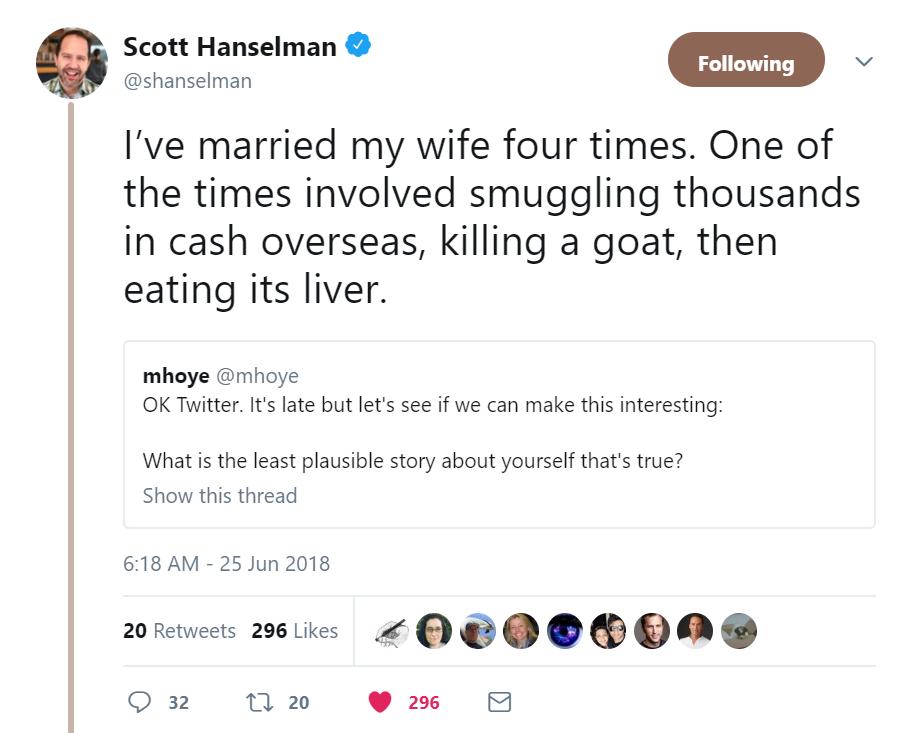 Scott Hanselmans Tweet